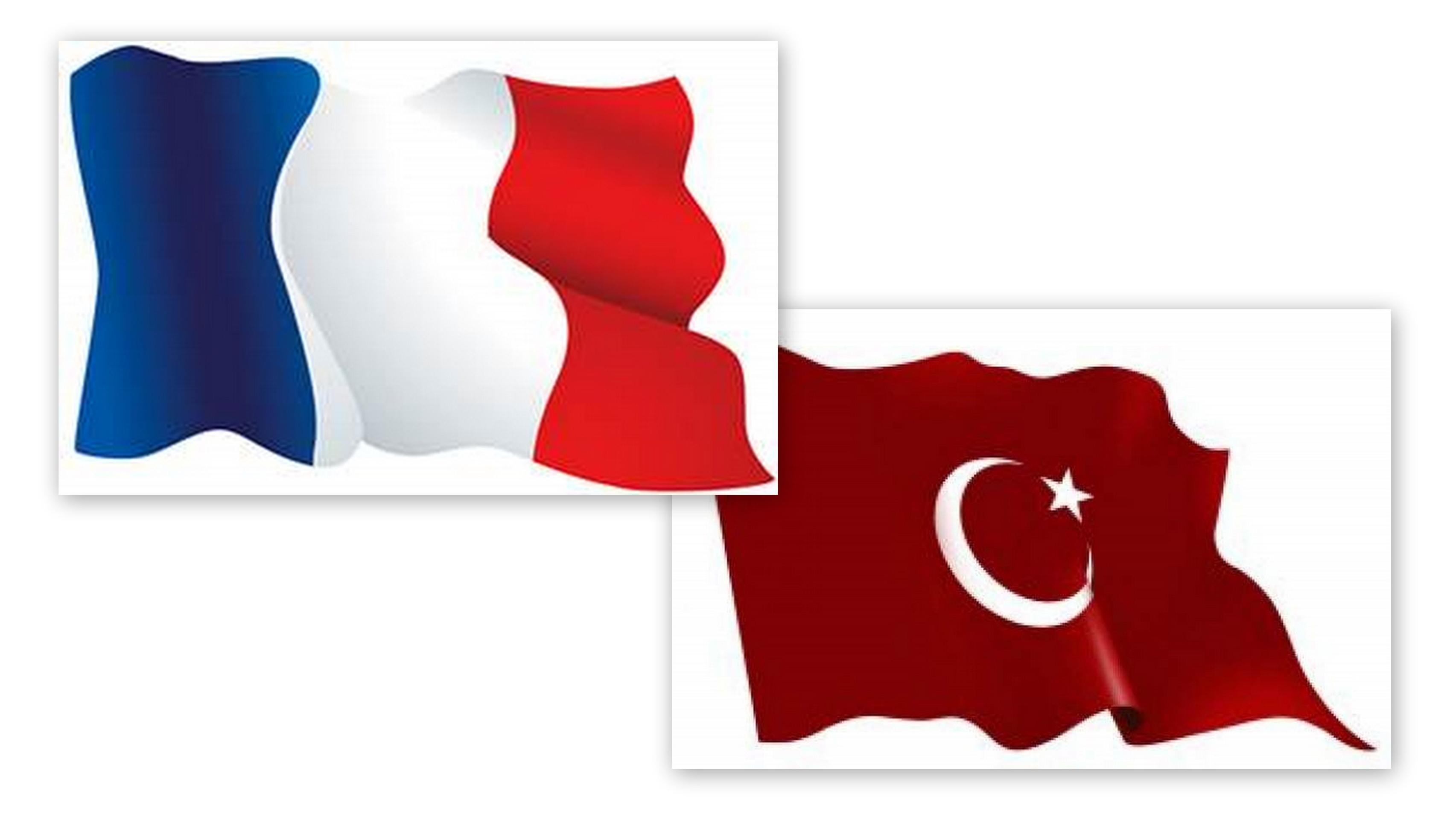 flagi francuska i turecka